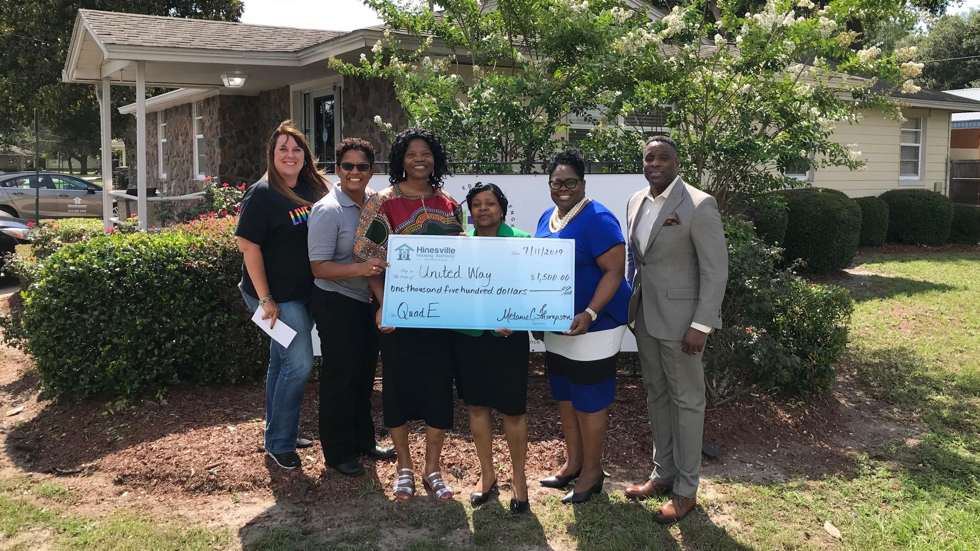 Housing Authority Donates $1,500 For Health Care Services - Hinesville Housing Authority - Hinesville, GA